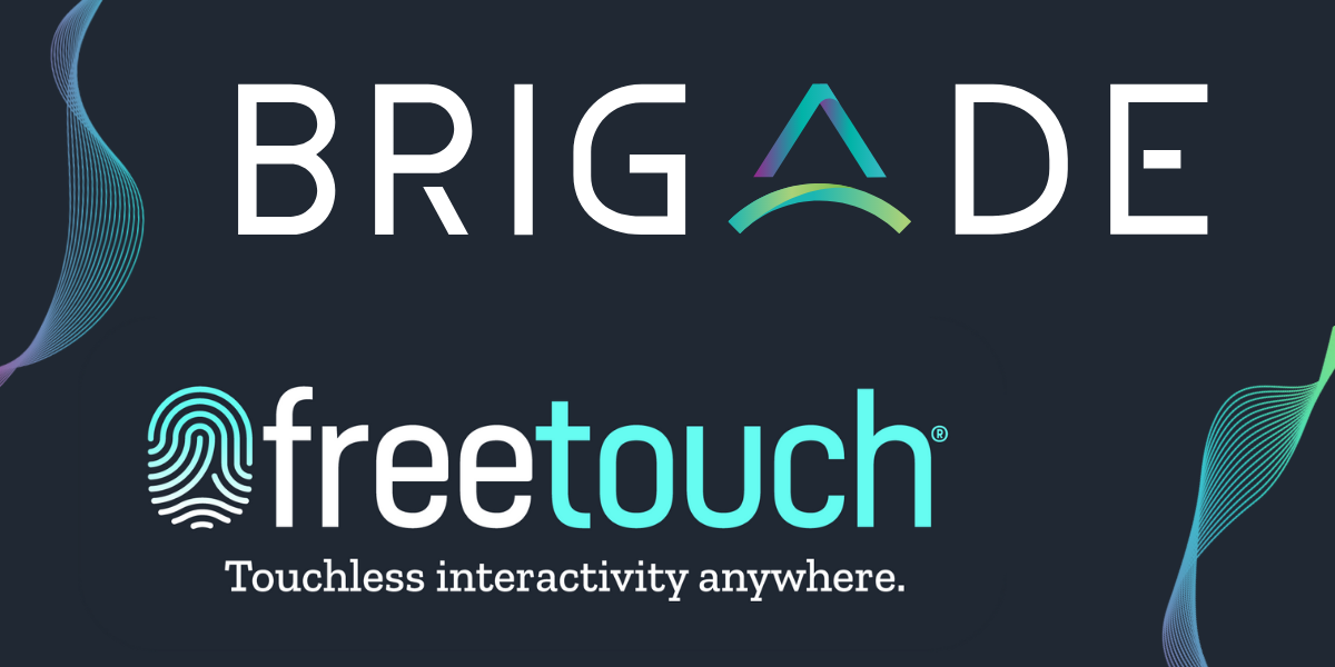 Brigade Partners with Freetouch for Touchless Display Interaction
